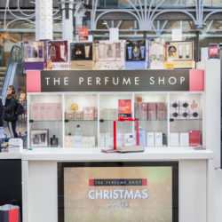 Mobile Retail Kiosk by POP Retail featuring The Perfume Shop in Paddington Station